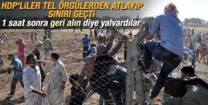 Kobane'ye Kaçak Giren HDP'liler 1 Saat Sonra Geri Dönmek İstedi