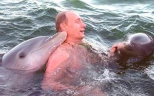 Vladimir Putin Yunuslarla