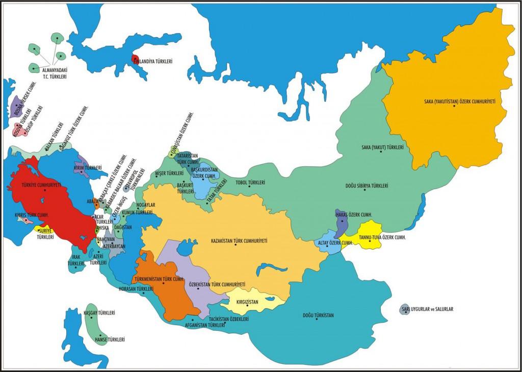 Türk Dünyası Harita