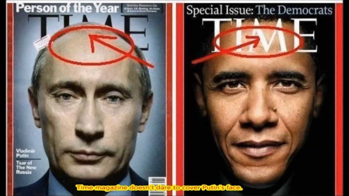 Görebileceğiniz üzre Putin'in yüzü Time'dan öndeyken, Obama'nın arkada. Buda başka bir propaganda malzemesi oldu.