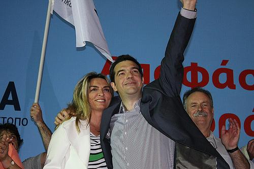 Aleksis Çipras (Aleksis Tsipras) ve eşi Baziana
