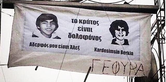 Yunanistan seçimlerinde Aleksis Çipras'ın kullandığı afiş - Berkin Elvan - Syriza partisi