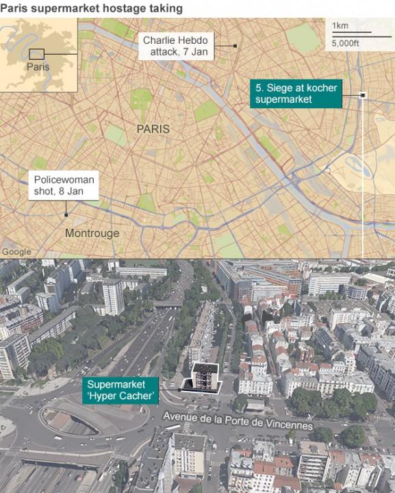 Fransadaki Charlie Hebdo saldırısı süpermarket