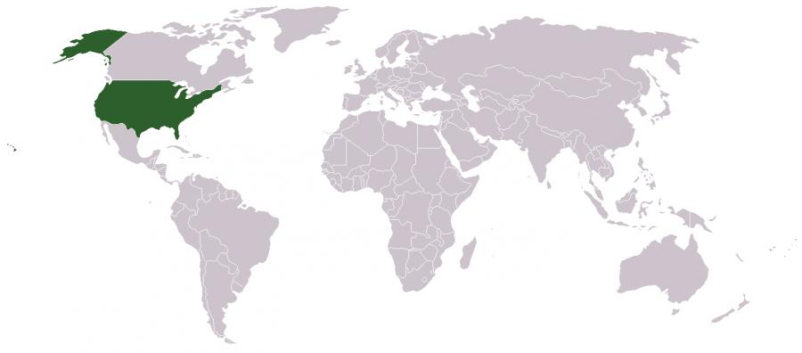 Amerika haritası dünya haritası