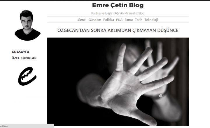 Emre Çetin Blog