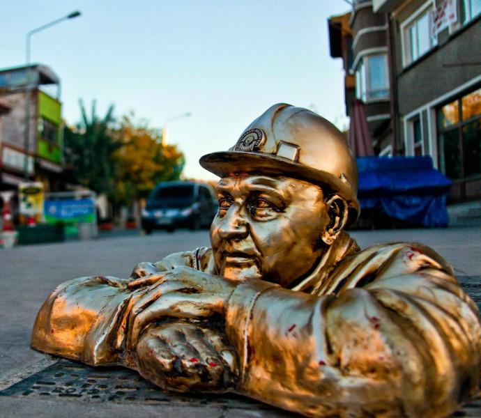 Odunpazarı işçi - Eskişehir heykel