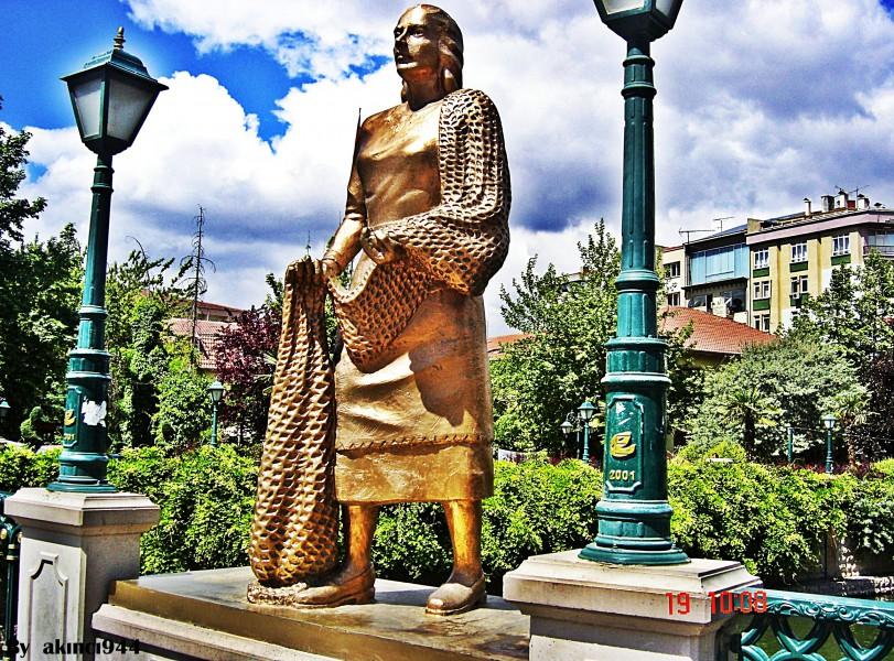 Balıkçı - Eskişehir heykel