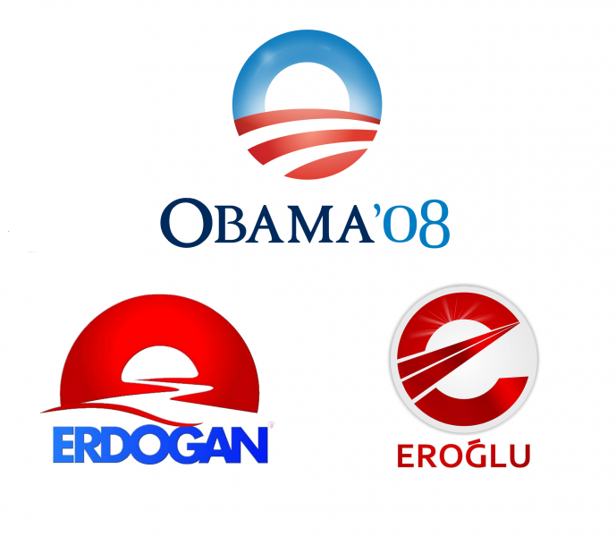 Obama, Erdoğan ve Eroğlu'nun seçim logoları benzerliği