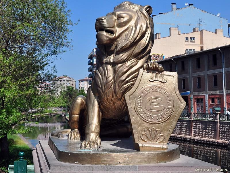 ASlan ve belediye - Eskişehir heykel
