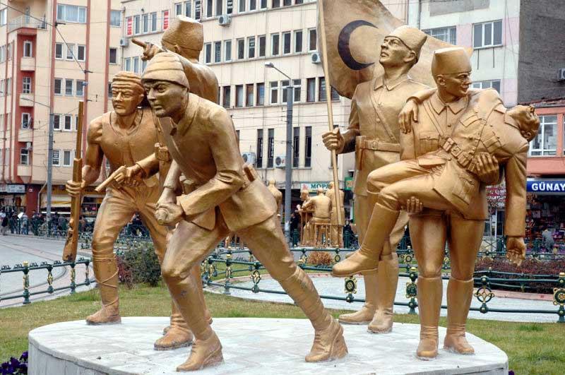 Kurtuluş savaşı - Eskişehir heykel