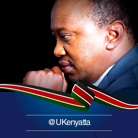 Uhuru Kenyatta, sosyal medya hesapları: facebook, twitter, instagram