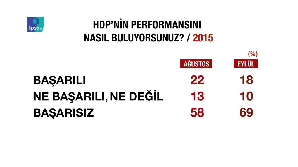 IPSOS HDP'nin performansı