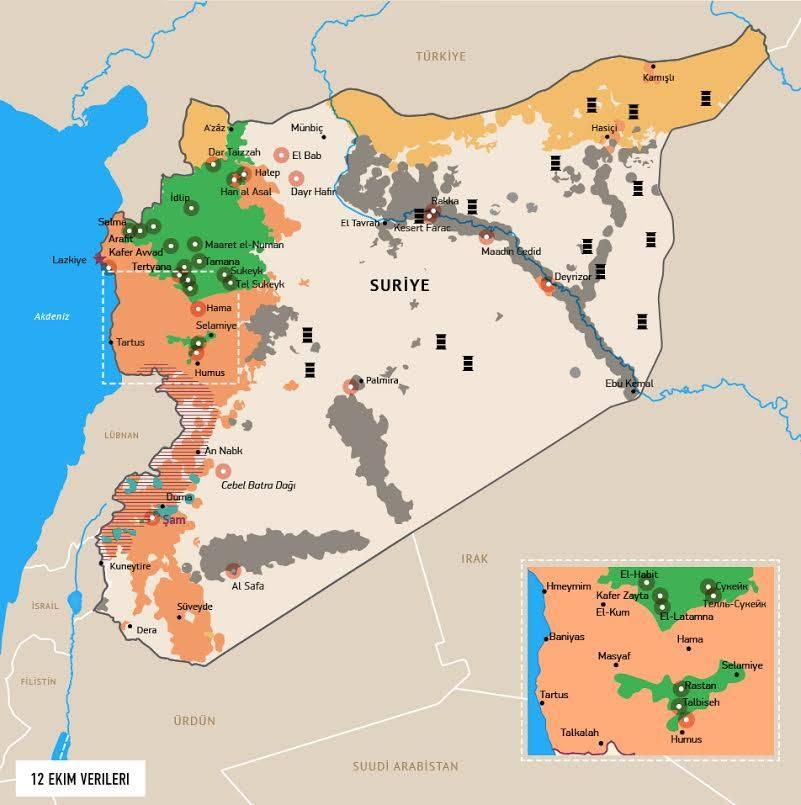 Suriye ic savas haritasi ve petrol