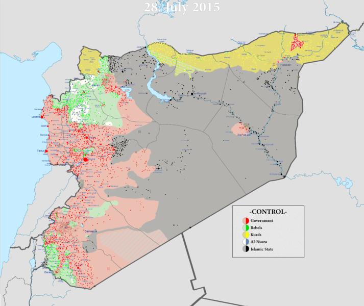 Suriye ic savas haritasi