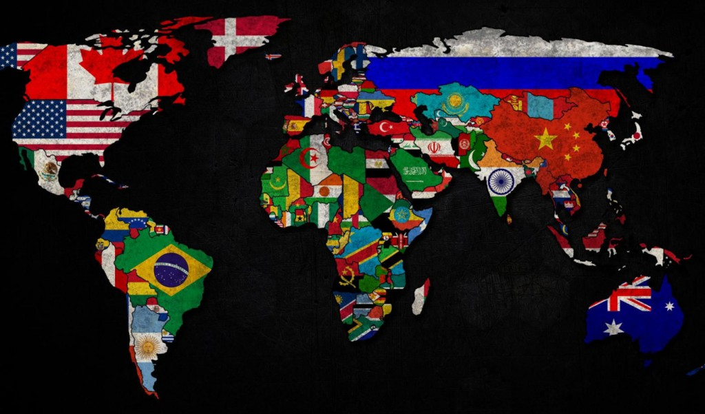 bayraklarla dunya haritasi