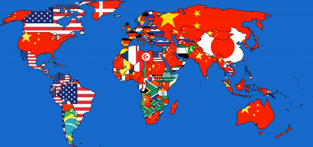 Dışsatım (ithalat) dünya haritası