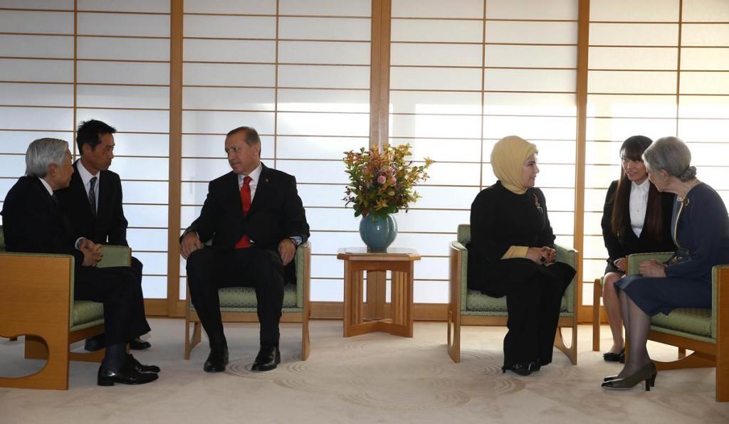 erdogan japonya koltuk