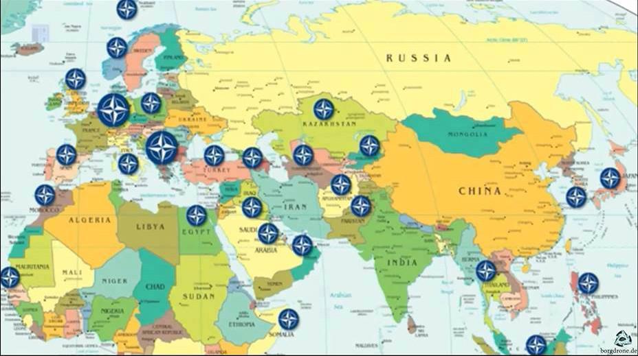 NATO üsleri ve Rusya - Çin
