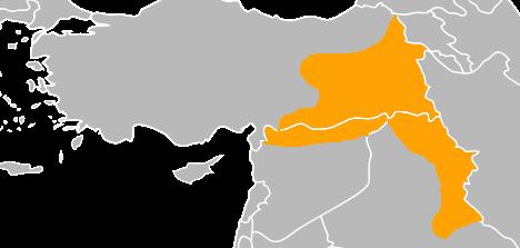 Turkiye suriye irak Kürt yoğunluğu