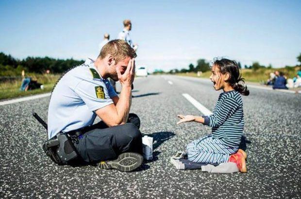 danimarka polisi ve Suriyeli mülteci çocuk