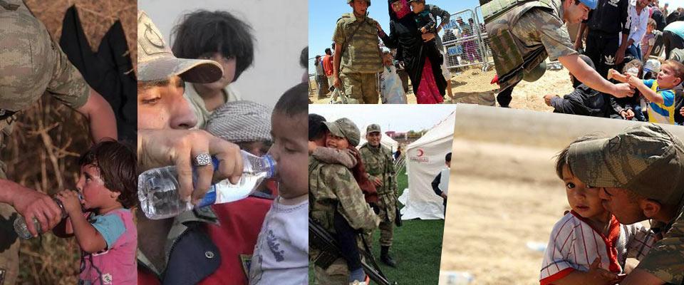 turk askeri ve polisi suriyeli multeciler