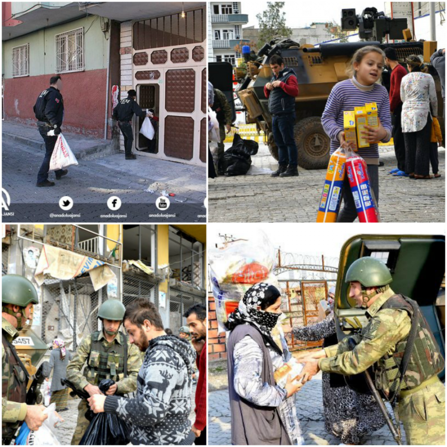 Polis ve askerin yardımı