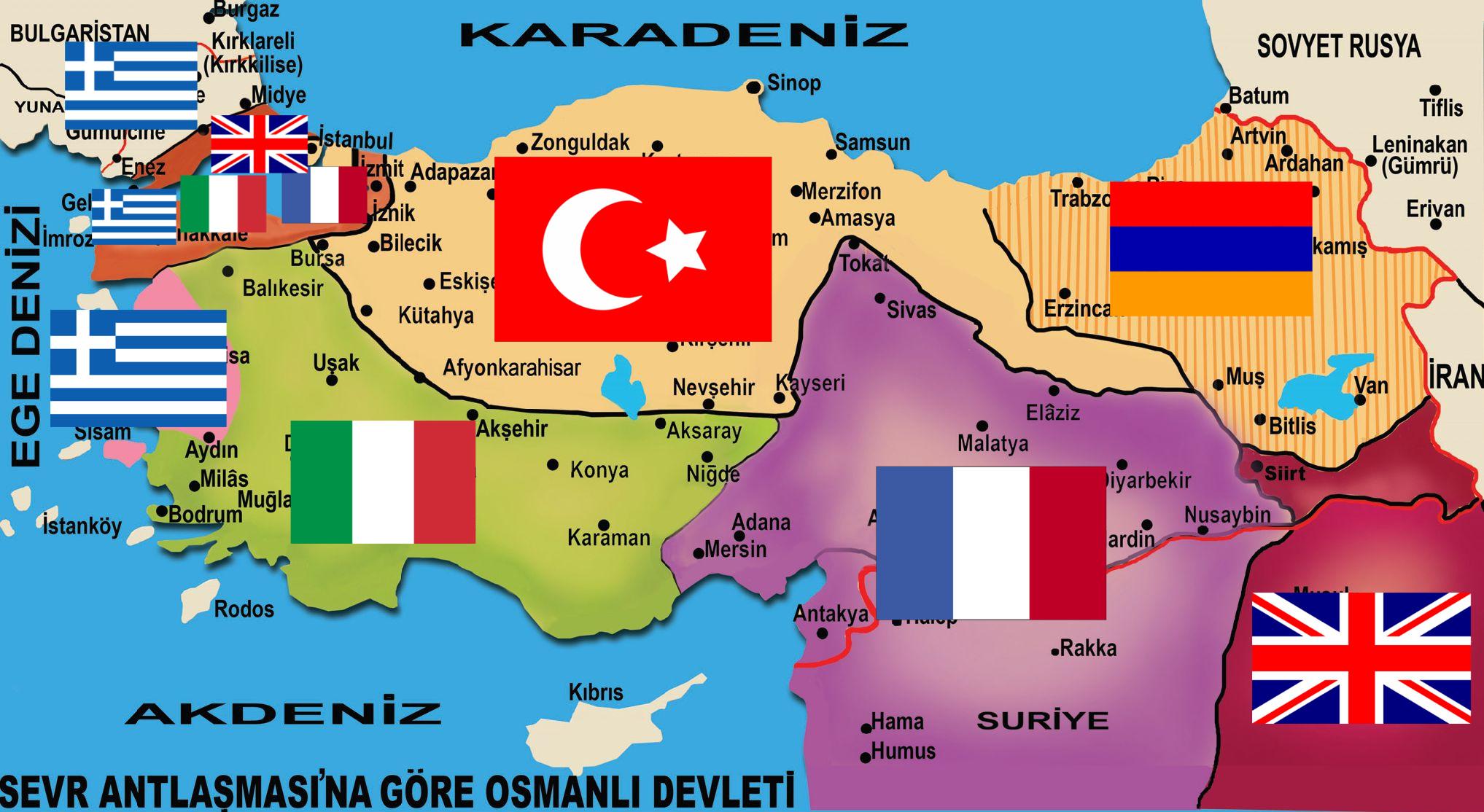 Sevr Antlaşması Haritası