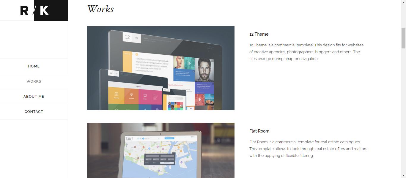 Sade minimalist site tasar mlar emre etin for Minimalist homepage