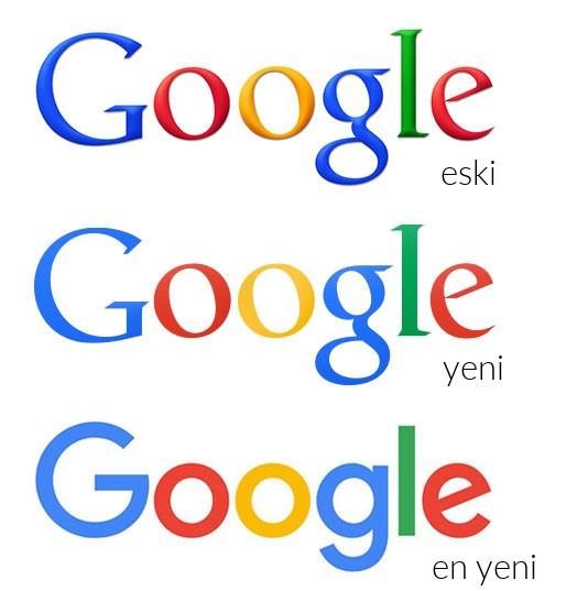 google logo değişimi