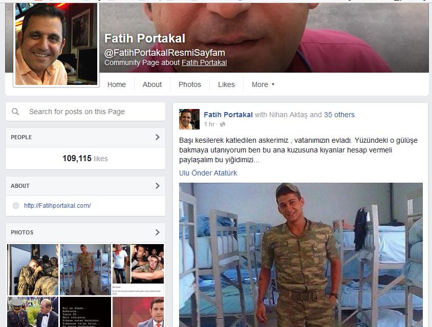 fatih portakal facebook sahte
