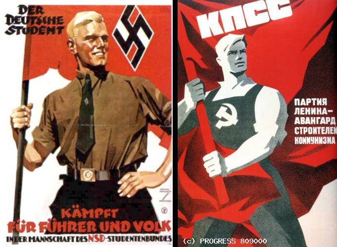 nazi sovyet poster - bayrak