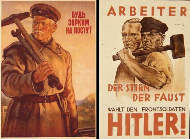 nazi sovyet poster - işçi