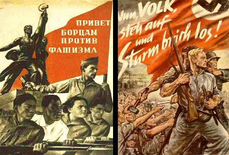 sovyet nazi poster - tek halk