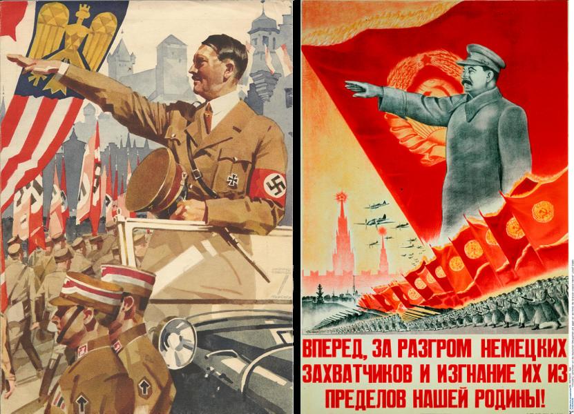 staln hitler - poster