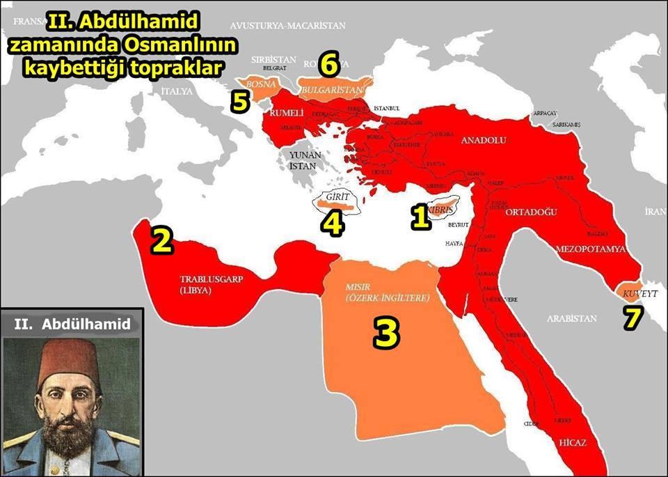 ikinci-abdulhamit-kaybedilen-topraklar